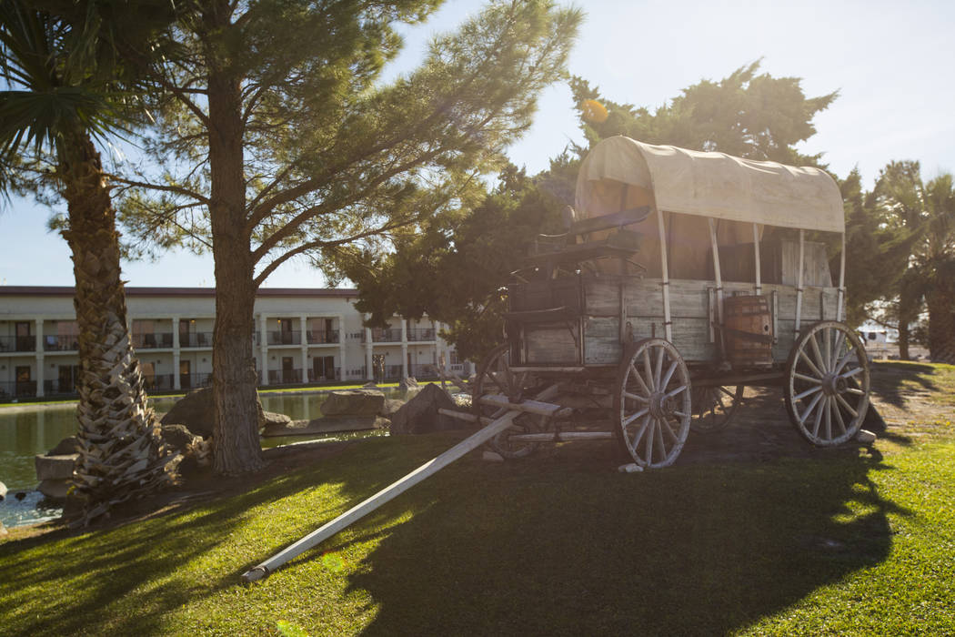 A covered wagon at Jim Marsh's Longstreet Casino in Amargosa Valley on Sunday, Oct. 28, 2018. Chase Stevens Las Vegas Review-Journal @csstevensphoto