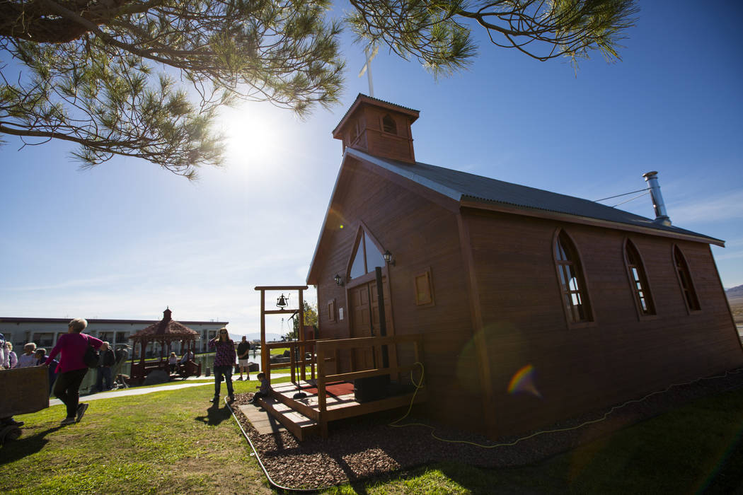The Chapel at Longstreet, a replica of a Catholic church in Belmont, at Jim Marsh's Longstreet Casino in Amargosa Valley on Sunday, Oct. 28, 2018. Chase Stevens Las Vegas Review-Journal @csstevens ...