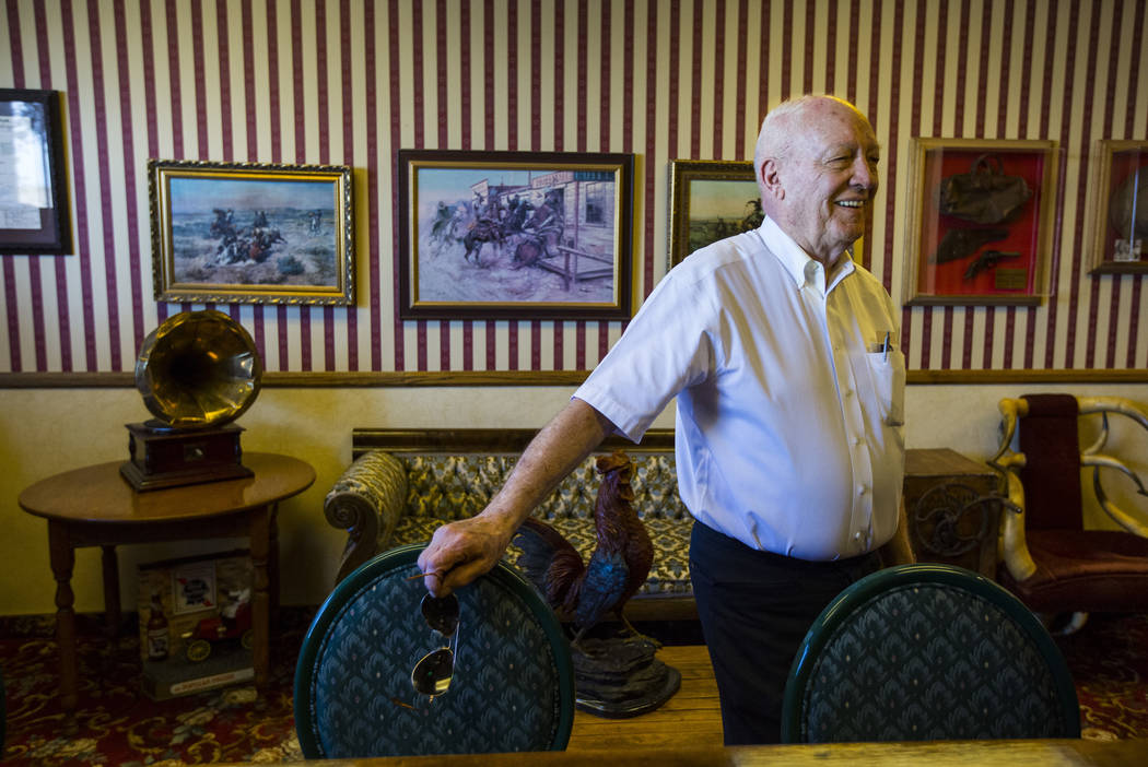 Businessman Jim Marsh at the bar at his Longstreet Casino in Amargosa Valley on Sunday, Oct. 28, 2018. Chase Stevens Las Vegas Review-Journal @csstevensphoto
