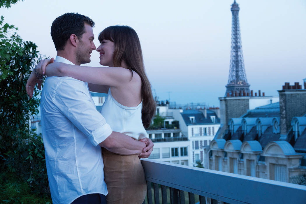 """Anastasia Steele and Christian Grey in """"Fifty Shades Freed."""" (Universal)"""