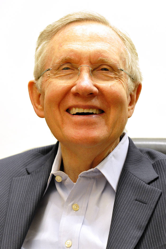 Harry Reid. (Mark Damon/Las Vegas Review-Journal)