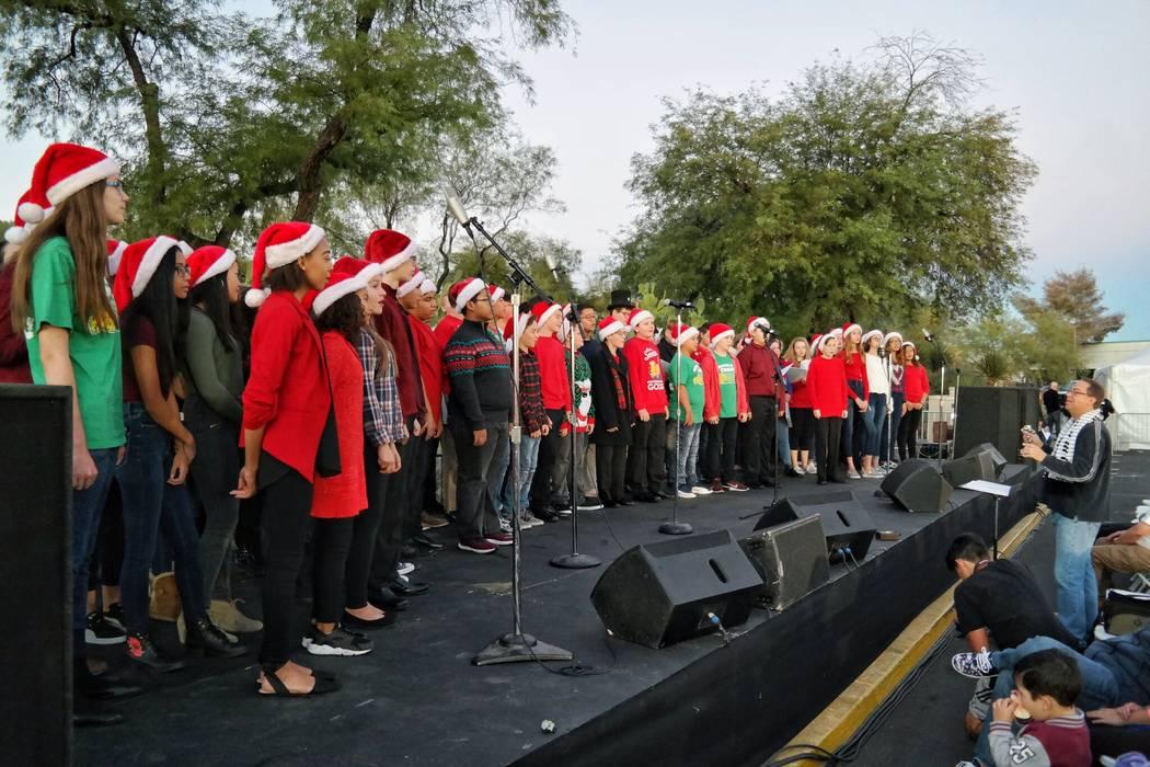 Coronado High School Choir performed at Ethel M's 25th Annual Cactus Garden lighting ceremony. Ethel M