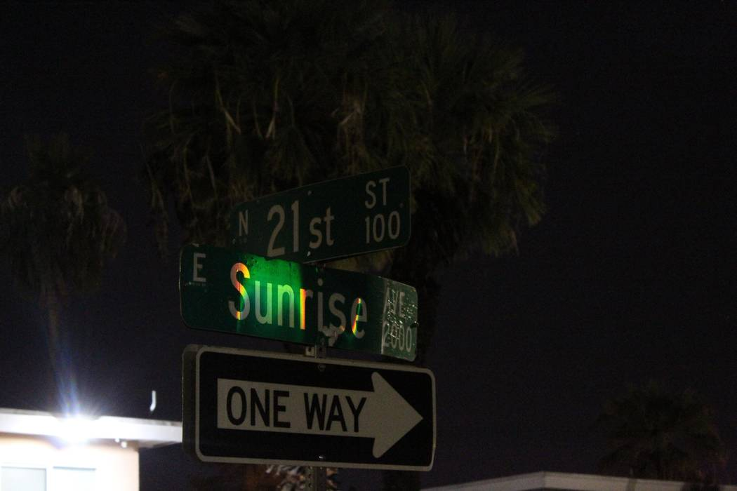 Las Vegas police are investigating Thursday morning after a woman was stabbed on the 2100 block of Sunrise Avenue. (Max Michor/Las Vegas Review-Journal)