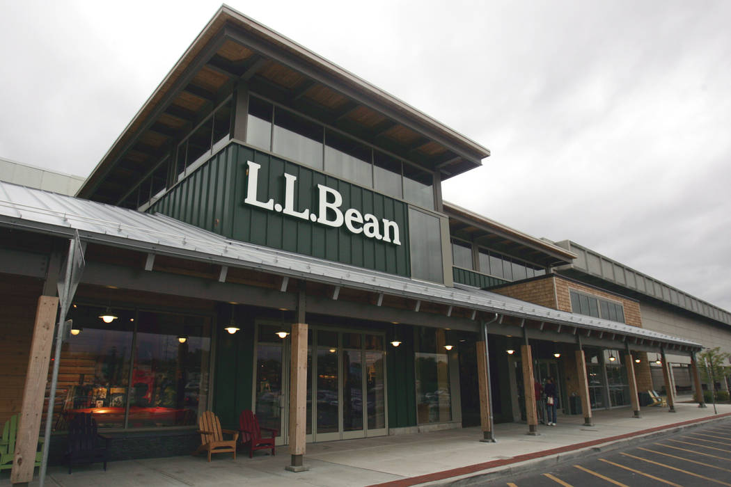 Citing an increase in fall sales, clothing retailer L.L. Bean has announced it is sending holiday checks to employees this year. (AP Photo/Mike Groll)