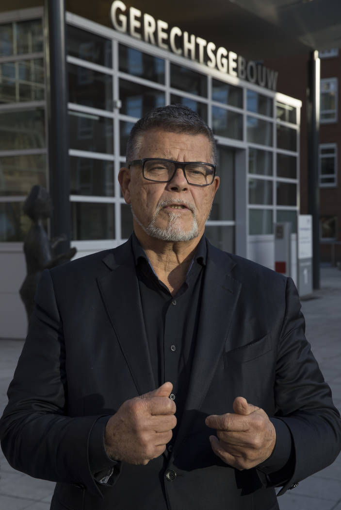 Self-styled Dutch positivity guru Emile Ratelband answers questions during an interview in Utrecht, Netherlands, Thursday, Nov. 8, 2018. For Ratelband age really is just a number. In a legal battl ...