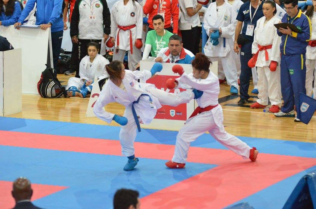 Trinity Allen, left, competes at the Junior Pan American Championships in August 2017 in Buenos Aires, Argentina. Courtesy: Jelena Kovacevic Herrera