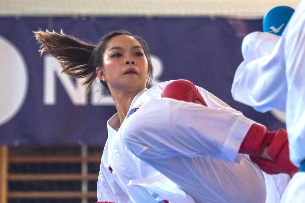 Trinity Allen competes at the Zmaj Open karate tournament in June 2018 in Ljubljana, Slovenia. Courtesy: Jelena Kovacevic Herrera