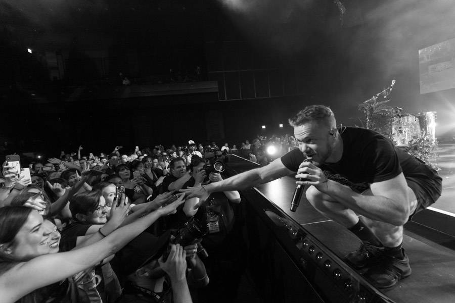 "Dan Reynolds of Imagine Dragons is shown at a fan appreciation show for the release of ""Origins"" at the Chelsea at the Cosmopolitan of Las Vegas on Wednesday, Nov. 7 2018. (Kabik Photo Group)"