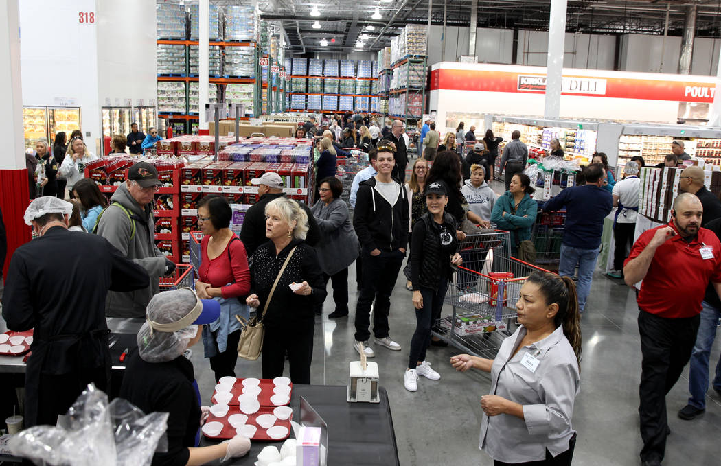 Shoppers at the grand opening of Costco near the intersection of St. Rose Parkway and Amigo Street in Henderson Thursday, Nov. 8, 2018. K.M. Cannon Las Vegas Review-Journal @KMCannonPhoto