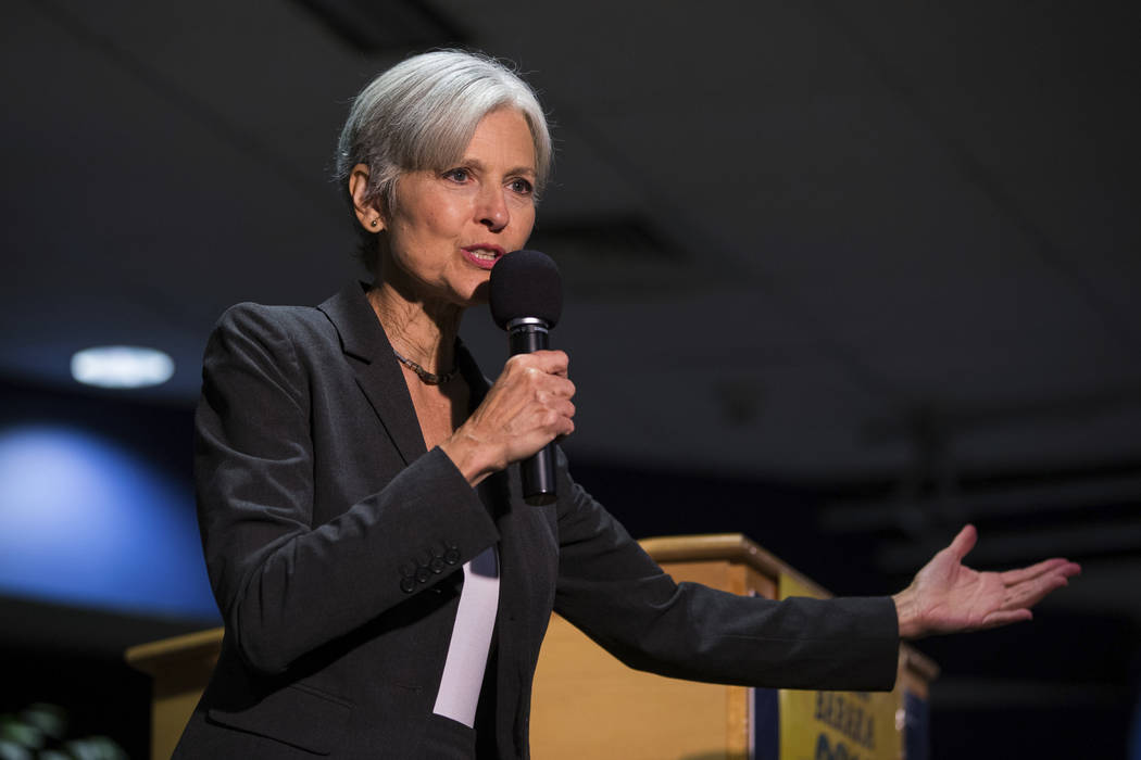 Green Party presidential candidate Jill Stein delivers remarks at Wilkes University in Wilkes-Barre, Pa. (Christopher Dolan/The Citizens' Voice via AP)