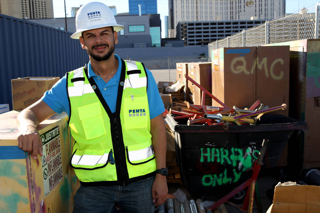 Veteran and project engineer Jose Mendez at his construction company offices in Las Vegas Wednesday, Nov. 7, 2018. K.M. Cannon Las Vegas Review-Journal @KMCannonPhoto