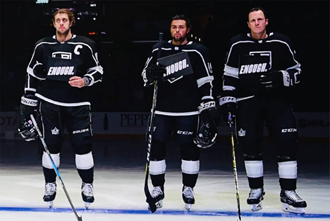 uk availability afed7 95d87 Los Angeles Kings honor victims in California bar attack ...