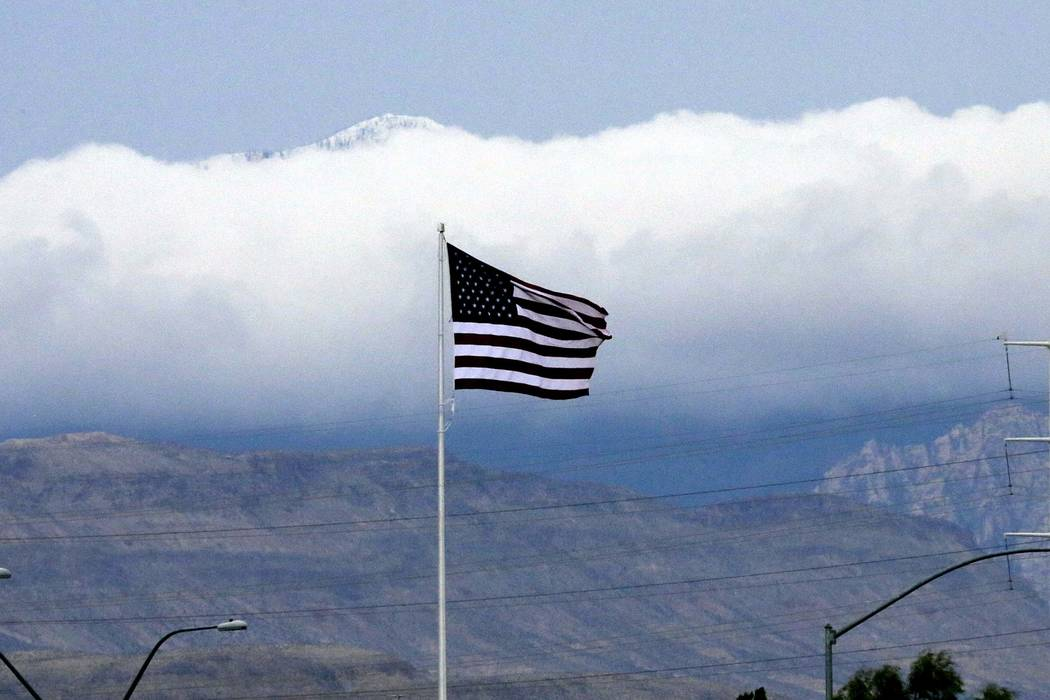 It will be windy and chilly through the weekend in the Las Vegas Valley. (Bizuayehu Tesfaye/Las Vegas Review-Journal) @bizutesfaye