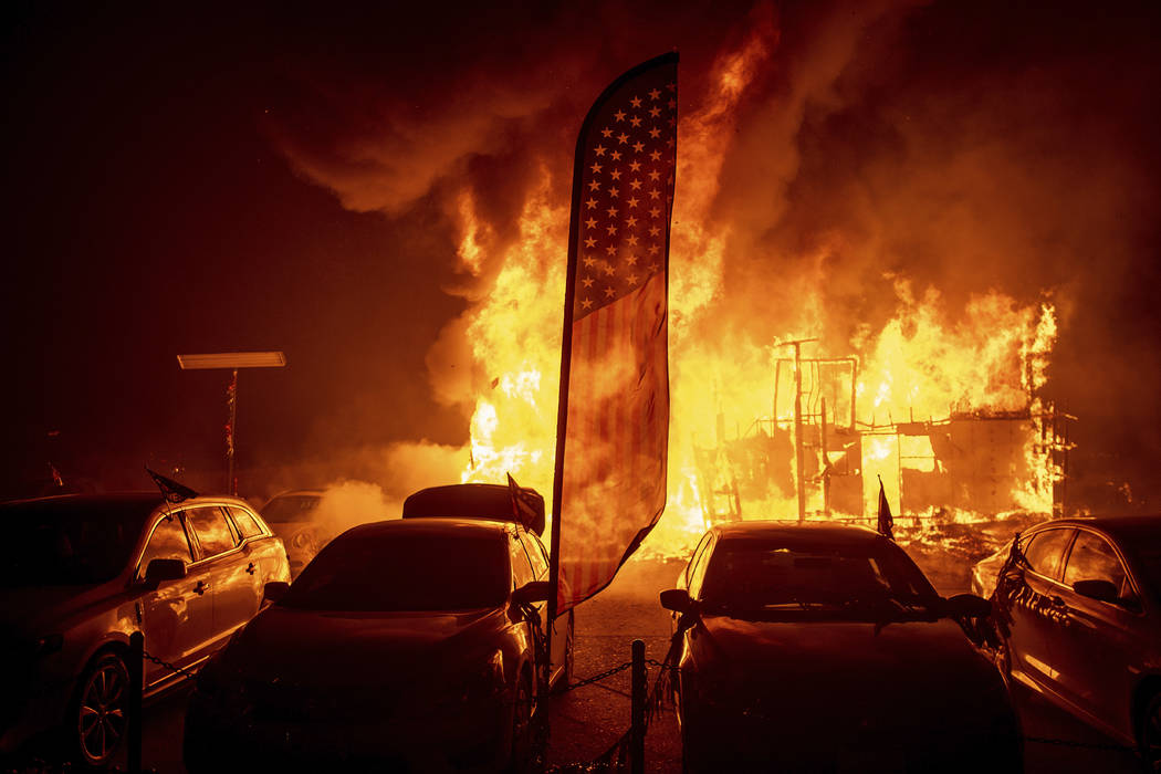 5 Killed Trying To Flee Northern California Fire Las Vegas Review