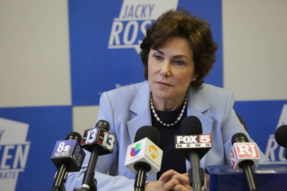 U.S. Senator-elect Jacky Rosen meets with Las Vegas reporters to discuss her win and priorities as Nevada's next senator on Friday, November 9, 2018. (Michael Quine/Las Vegas Review-Journal @Veg ...