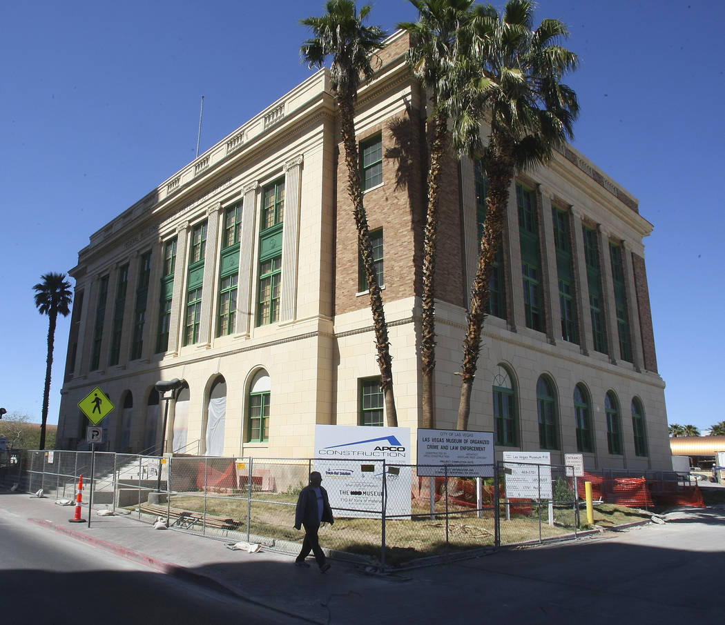 The old U.S. Post Office in downtown Las Vegas is shown on April 7, 2010, in Las Vegas. The building was refitted to house the Museum of Organized Crime and Law Enforcement -- the Mob Museum. (Gar ...