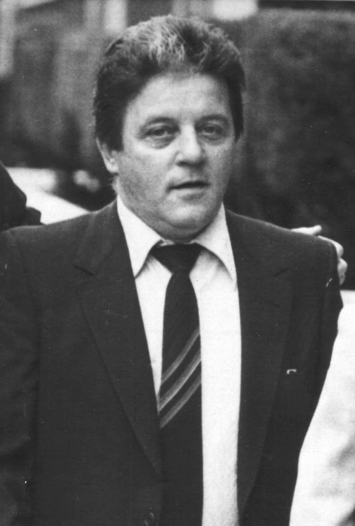 """Tony """"The Ant"""" Spilotro is shown at his racketeering trial in 1986. (Scott Henry/Las Vegas Review-Journal)"""