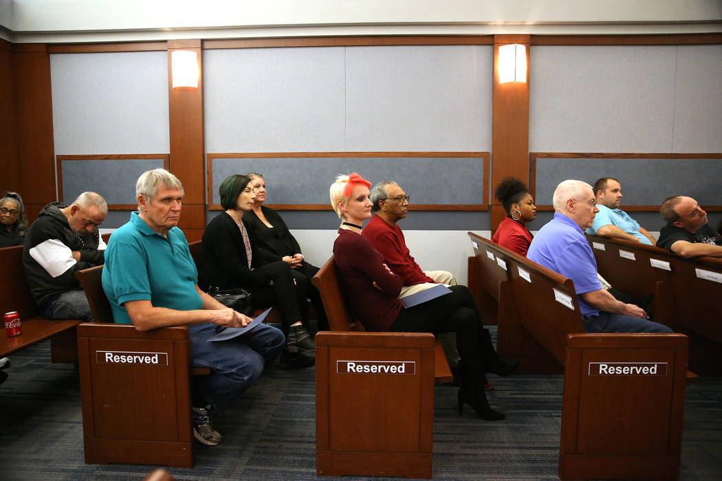 Attendees during the Veterans Treatment Court Promotion and Graduation Day at the Regional Justice Center in Las Vegas, Friday, Nov. 9, 2018. Erik Verduzco Las Vegas Review-Journal @Erik_Verduzco