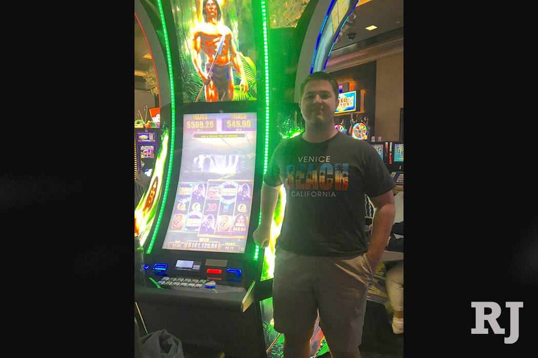 The man, who was visiting from San Jose, won $140,000 on Friday while playing a Tarzan machine at The Cosmopolitan of Las Vegas. (The Cosmopolitan of Las Vegas)