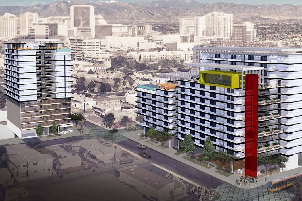 Daniel Riceberg filed plans to build two 15-story apartment towers near The Gay and Lesbian Community Center of Southern Nevada. (Daniel Riceberg)