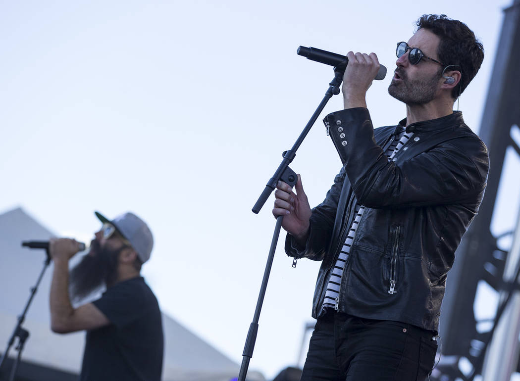 Pop group Capital Cities perform ahead of the 2018 Rock 'n' Roll Marathon in Las Vegas on Sunday, Nov. 11, 2018. Richard Brian Las Vegas Review-Journal @vegasphotograph