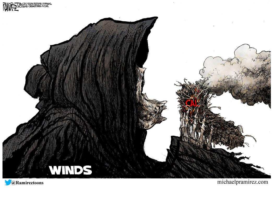 cartoon california on fire las vegas review journal