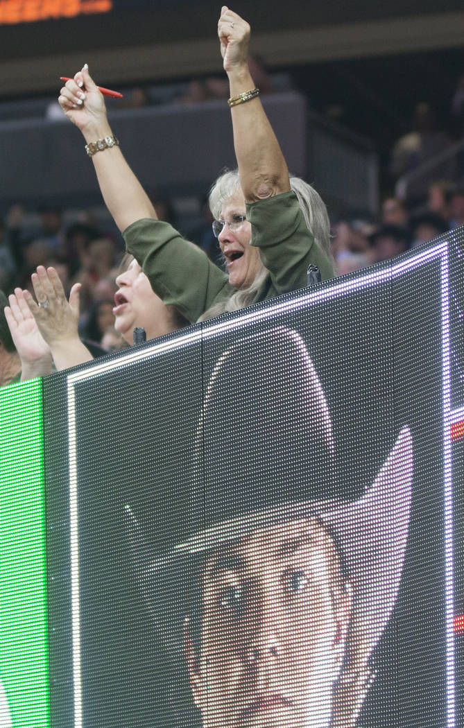 Fans cheer for their favorite riders during the Professional Bull Riders World Finals on Sunday, November 11, 2018, at T-Mobile Arena, in Las Vegas. Benjamin Hager Las Vegas Review-Journal