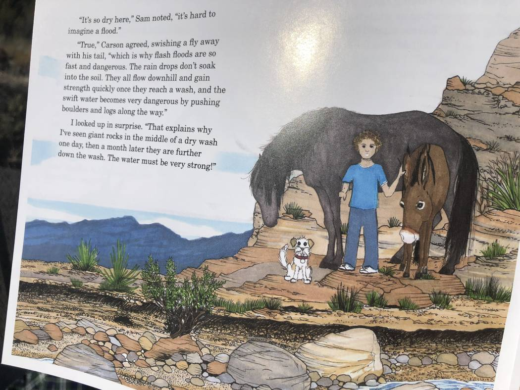 """""""Jackson: The Red Rock Canyon Burro"""" tells the story of Jackson, Carson the Mustang, Millie the dog and Sam (the human) . (Janna Karel Las Vegas Review-Journal)"""