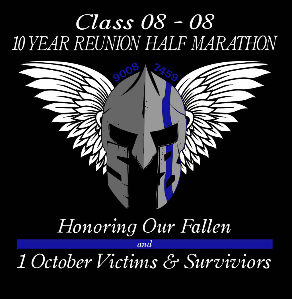 An LVMPD running group logo honoring fallen officers for the 2018 Las Vegas Rock 'n' Roll Marathon. Photo by Sgt. Ryan Cook/LVMPD