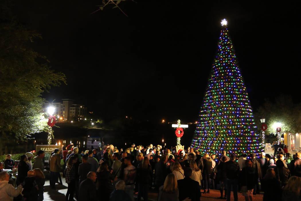 Lake Las Vegas will host its 15th annual Christmas Tree lighting at the Village at Lake Las Vegas. (Lake Las Vegas)