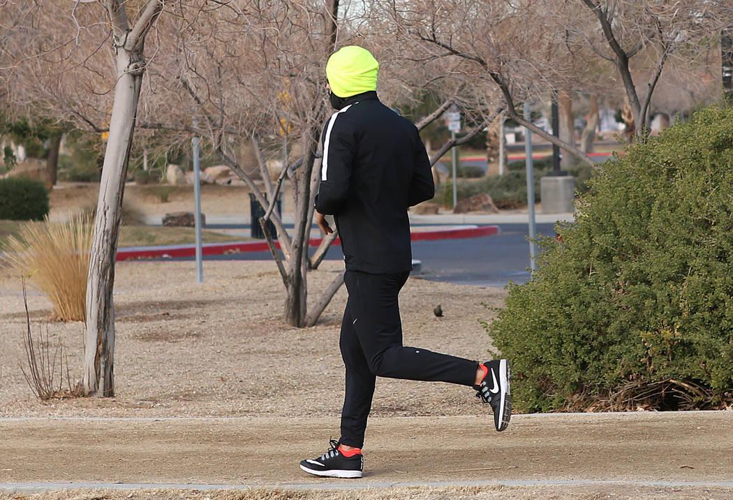 A freeze warning is in effect through Wednesday in the Las Vegas Valley. (Bizuayehu Tesfaye/Las Vegas Review-Journal) @bizutesfaye