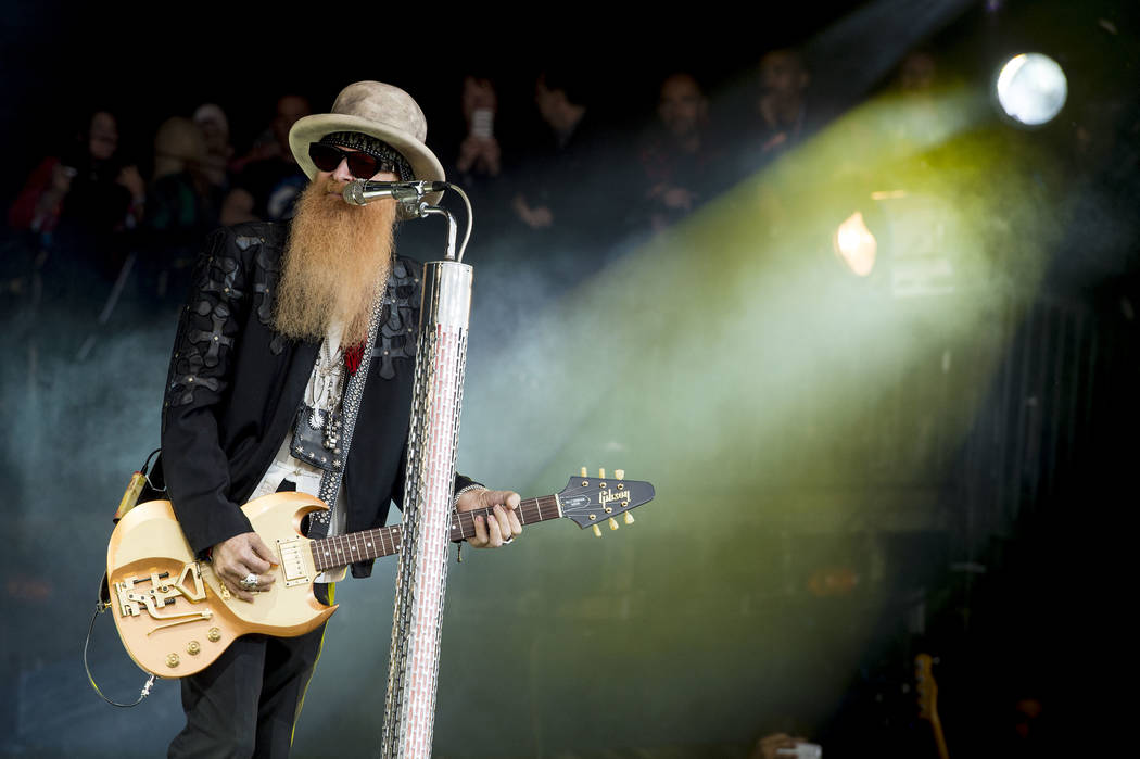 Billy Gibbons from U.S rock band ZZ Top perform at the Glastonbury music festival at Worthy Farm, in Somerset, England, Friday, June 24, 2016. (Photo by Jonathan Short/Invision/AP)