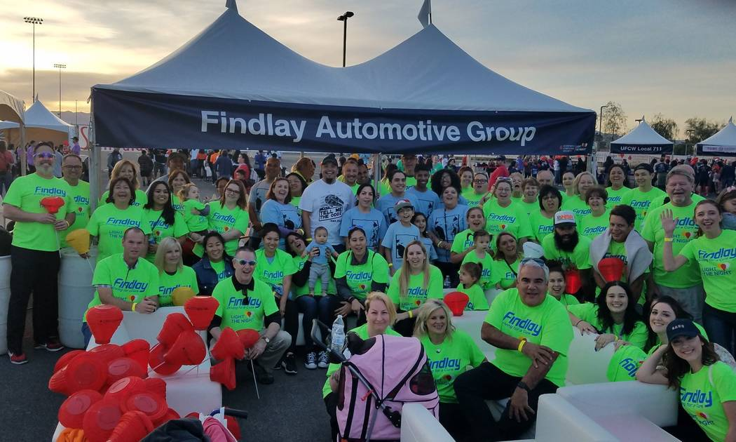 Some of Findlay Automotive team came to support the annual Leukemia & Lymphoma Society's Light the Night Walk on Nov. 3 at the campus of College of Southern Nevada at 6375 W. Charleston Blvd. (F ...