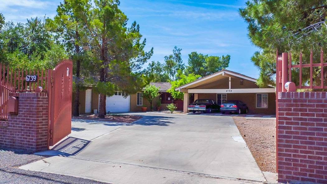 The Las Vegas childhood home of tennis legend Andre Agassi is at 6739 Tara Ave. (Xpand Realty)