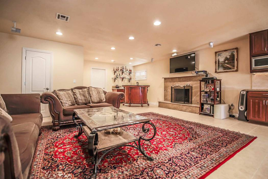 The home at 6739 Tara Ave. has been remodeled since tennis legend Andre Agassi lived there. This is the great room. (Xpand Realty)
