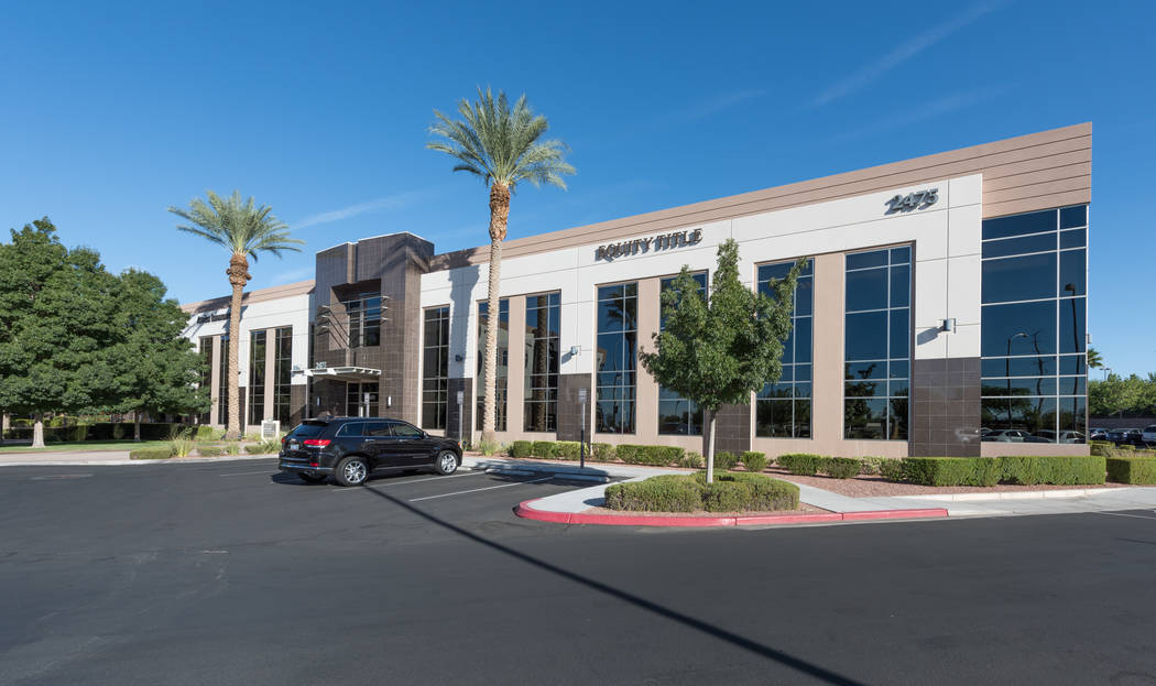 JMA Ventures bought three office buildings in Henderson, including the one at 2475 Village View Drive, seen here, for $34 million total. (Cushman & Wakefield )