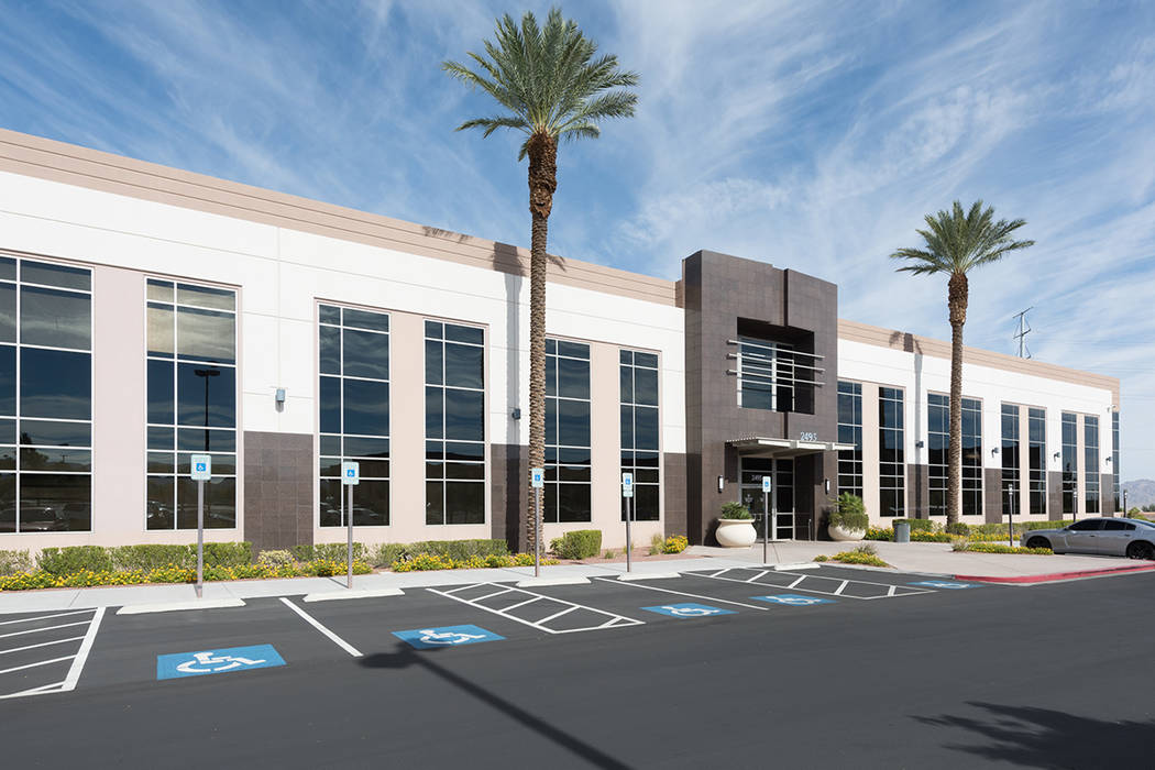 JMA Ventures bought three office buildings in Henderson, including the one at 2495 Village View Drive, seen here, for $34 million total. (Cushman & Wakefield)