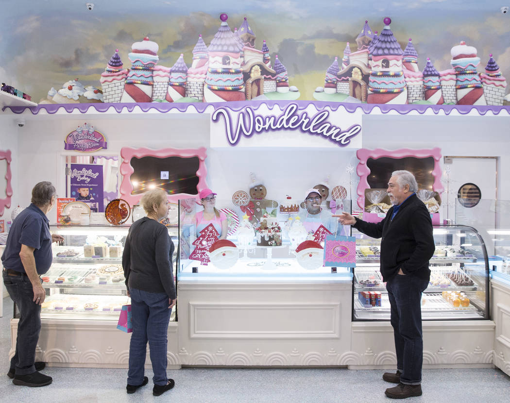 Alan and Sharon Lubin, left, and Bruce Ventimiglia shop for sweets at Wonderland Bakery on Wednesday, November 14, 2018, in Las Vegas. Benjamin Hager Las Vegas Review-Journal
