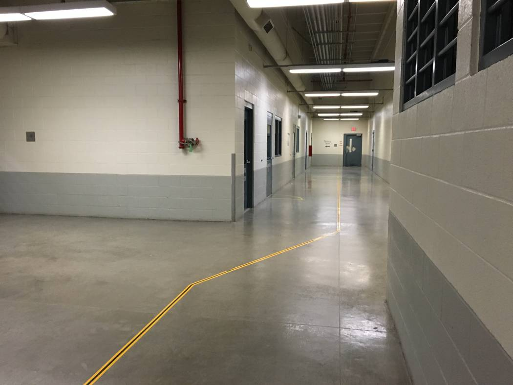 A long hallway leads to prison cells at the Florence McClure Women's Correctional Center is pictured. Credit: Brooke Santina, Nevada Department of Corrections