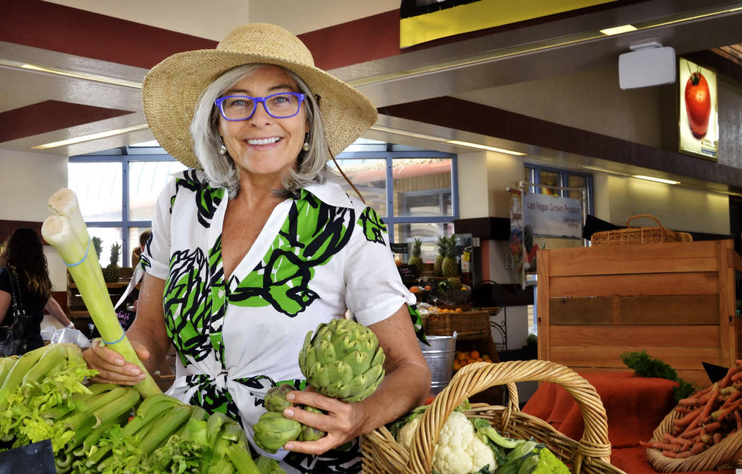 Kerry Clasby, manager of the Downtown 3rd Farmers Market, is shown at the market at 300 N. Casino Center Blvd. in Las Vegas on Friday, April 18, 2014. (Bill Hughes/Las Vegas Review-Journal)