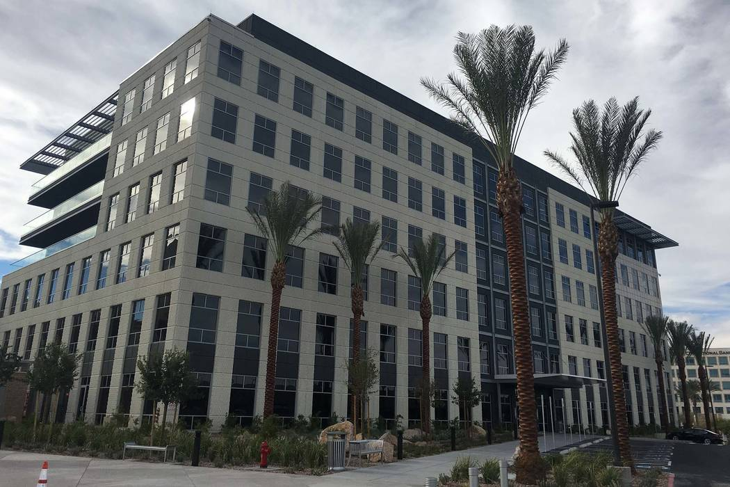 The six-story Las Vegas office building known as Two Summerlin, pictured Wednesday, Aug. 29, 2018, was developed by Howard Hughes Corp. (Eli Segall/Las Vegas Review-Journal)