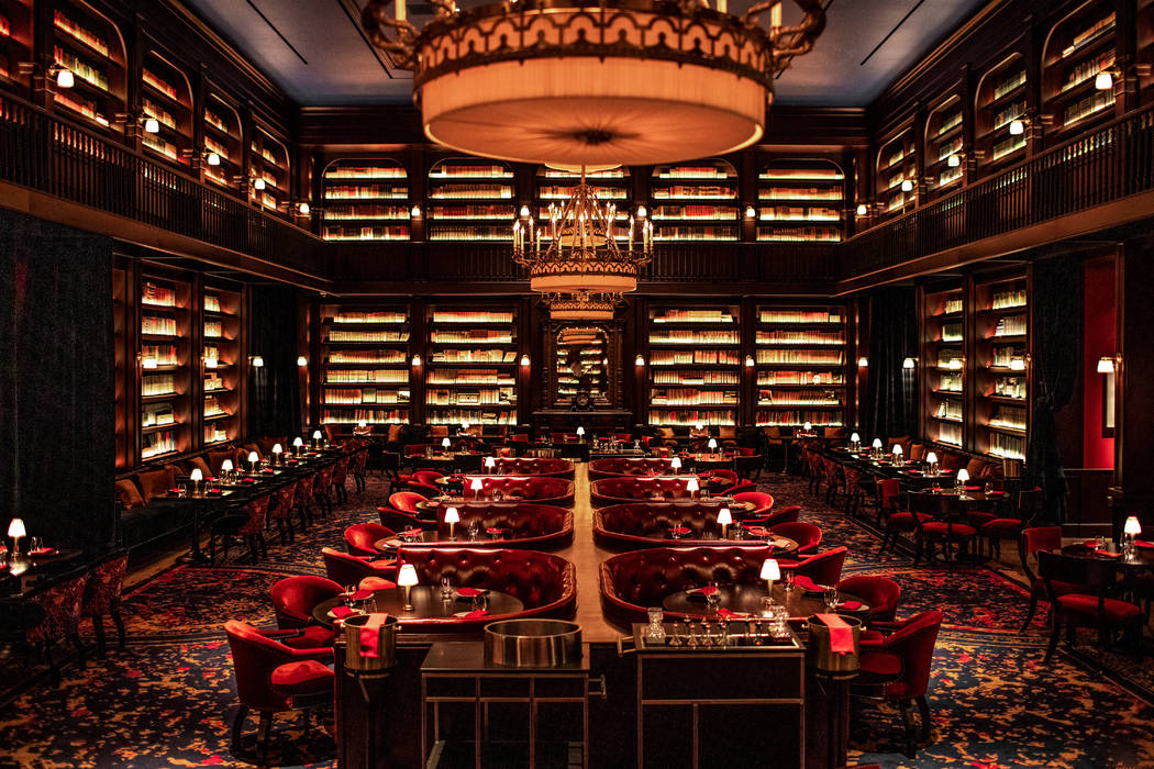 NoMad Restaurant is home to 25,000 books from David Rockefeller's personal collection. (NoMad Las Vegas)