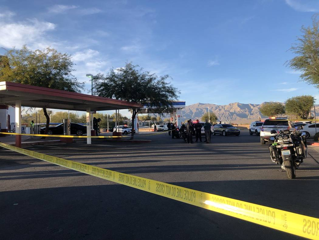 A 16-year-old was hospitalized but is expected to survive after a shooting in North Las Vegas on Tuesday, November 13, 2018, police said. (Katelyn Newberg/ Las Vegas Review-Journal)