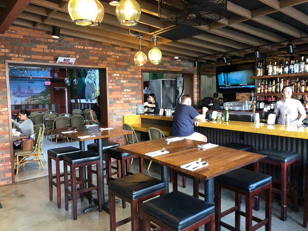 Le Thai in downtown Las Vegas reopened this week after a major remodel that started in July. (Al Mancini/Las Vegas Review-Journal)