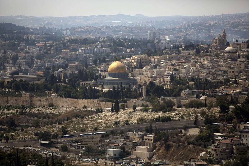 In this Sept. 9, 2013 file photo, the Dome of the Rock Mosque in the Al Aqsa Mosque compound is seen in Jerusalem's old city. Israel plans to build a cable car to relieve traffic in Jerusalem's ...