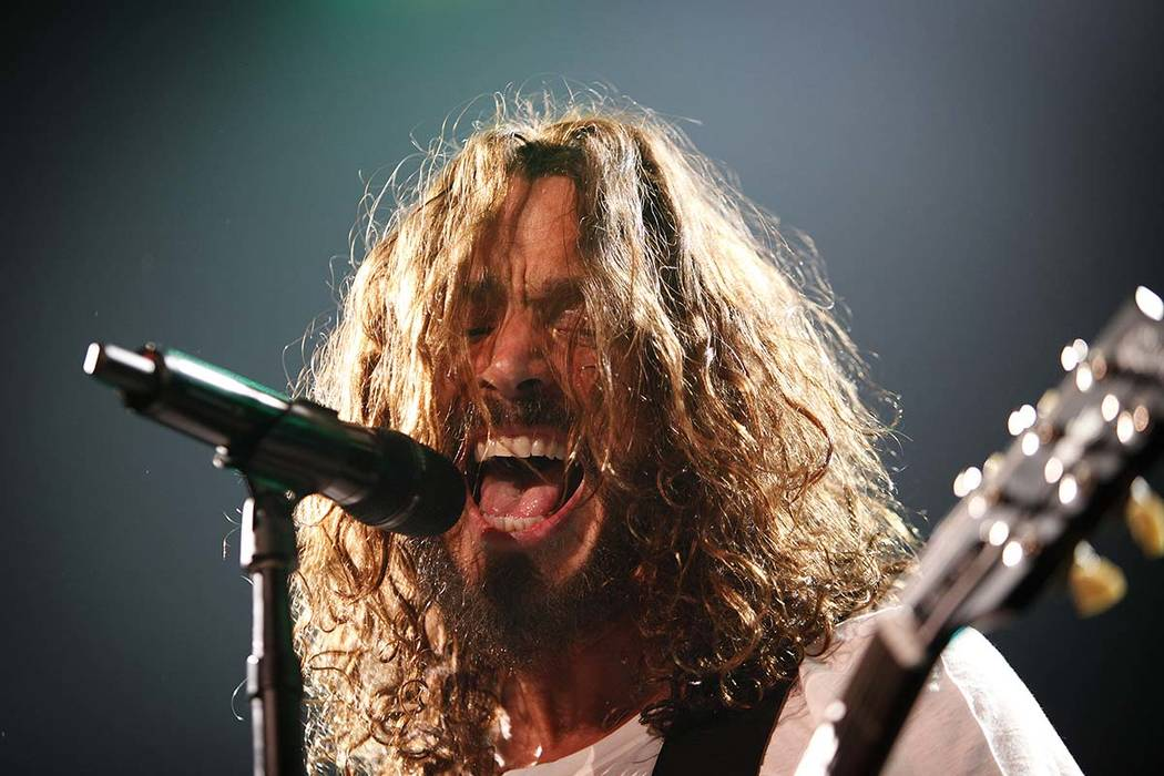 Chris Cornell of Soundgarden performs with the band at The Joint at the Hard Rock casino in Las Vegas Saturday, July 23, 2011. (John Locher/Las Vegas Review-Journal file)
