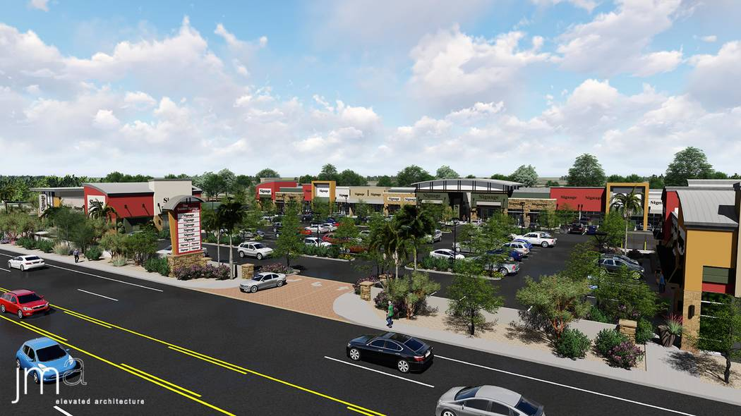 Developer Jenny Chang Au Plans To Open A 32 450 Square Foot Retail Center Golden Spring Plaza In Las Vegas Chinatown Area In Late 2019 Rendering Total Real Estate Of Nevada Las Vegas Review Journal