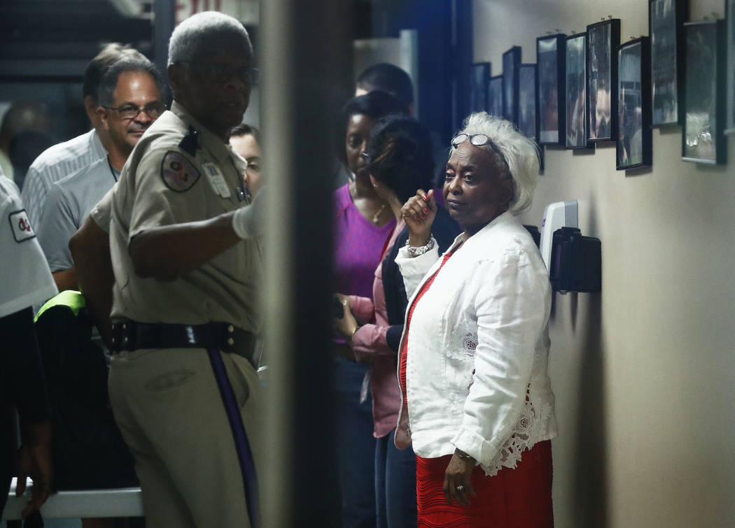 Broward County Supervisor of Elections, Dr. Brenda Snipes, walks into the office during a recount on Tuesday, Nov. 13, 2018, in Lauderhill, Fla. (Brynn Anderson/AP)