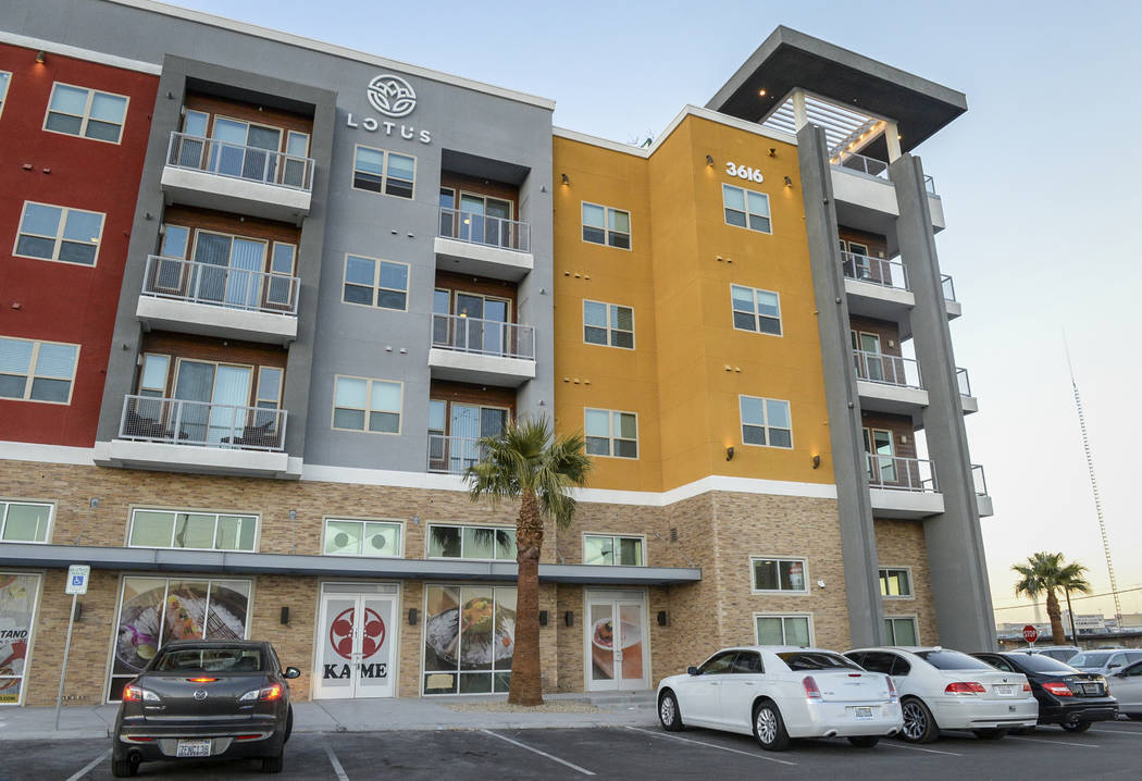Exterior shots of the Lotus apartment complex in Chinatown, Monday, Nov. 12, 2018. Caroline Brehman/Las Vegas Review-Journal