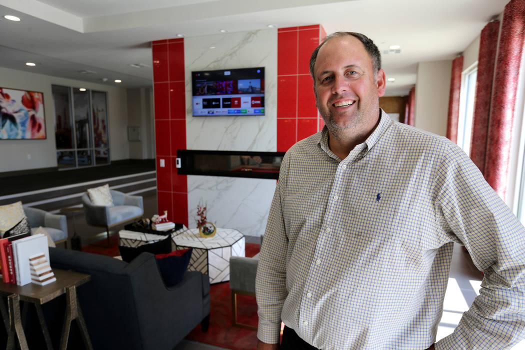Developer Jonathan Fore in the 24-hour great room at Lotus apartment complex on Spring Mountain Road near Valley View Boulevard Monday, May 25, 2018. K.M. Cannon Las Vegas Review-Journal @KMCannon ...